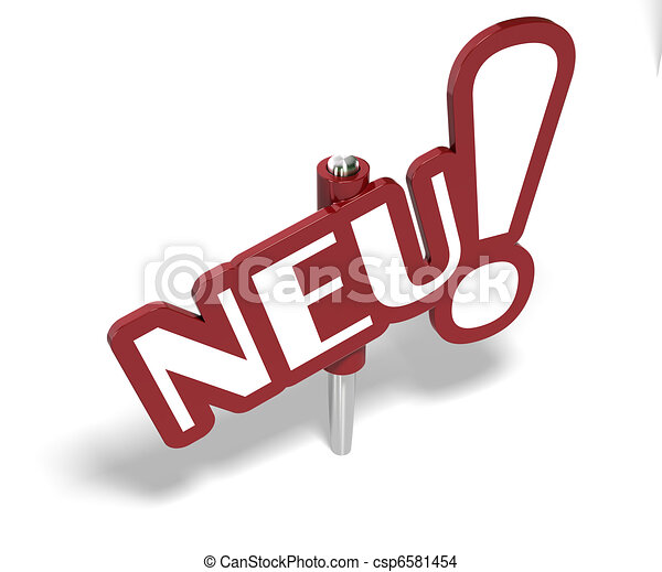 Neu word writen on a red sign, symbol of new - csp6581454