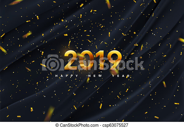 neu , year., 2019, glücklich - csp63075527