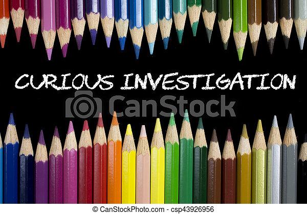 Seltsame Ermittlungen - csp43926956