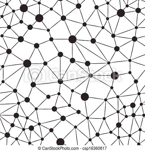 neuron, seamless, bakgrund - csp16360817