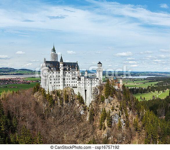 neuschwanstein, alemania, castillo - csp16757192