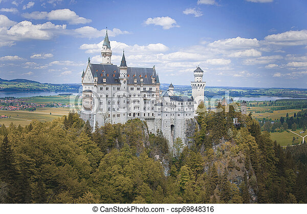 Neuschwanstein Castle at the Summer, Bavaria, Germany - csp69848316