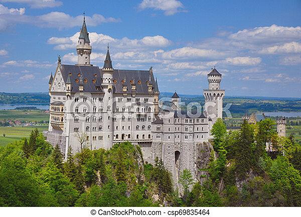 Neuschwanstein Castle at the Summer, Bavaria, Germany - csp69835464