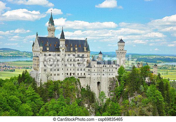 Neuschwanstein Castle at the Summer, Bavaria, Germany - csp69835465