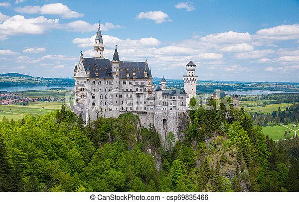 Neuschwanstein Castle at the Summer, Bavaria, Germany - csp69835466