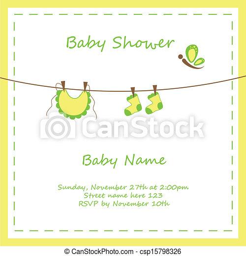 Neutral baby invitation neutral yellow green baby shower invitation neutral baby invitation csp15798326 filmwisefo