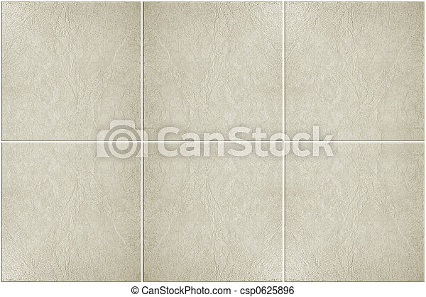 Neutral floor tiles. Neutral colored floor tile with white grout.