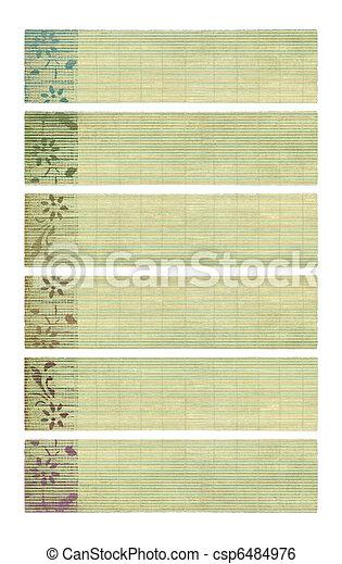 Neutral tones coconut paper banner set  - csp6484976