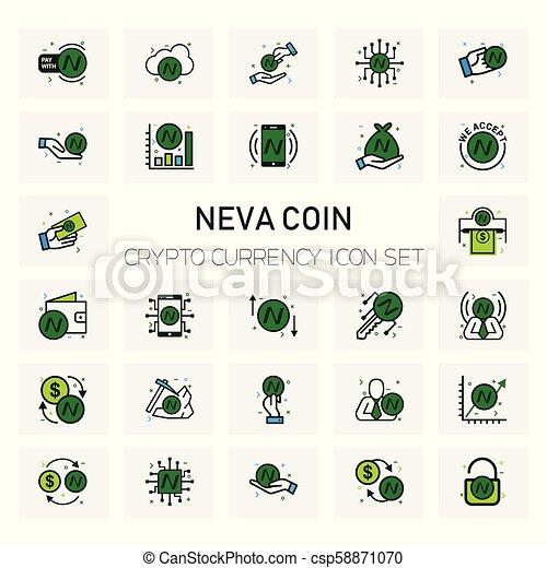 NEVA Coin Crypto icons set - csp58871070