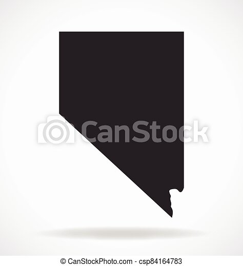 nevada nv state map shape simplified vector - csp84164783