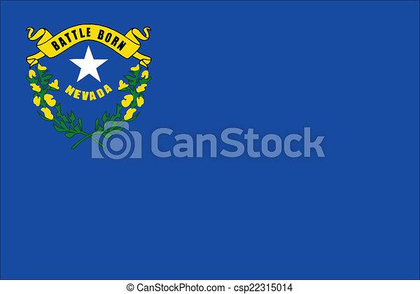 Nevada State Flag - csp22315014