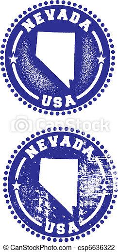 Nevada USA Stamps - csp6636322
