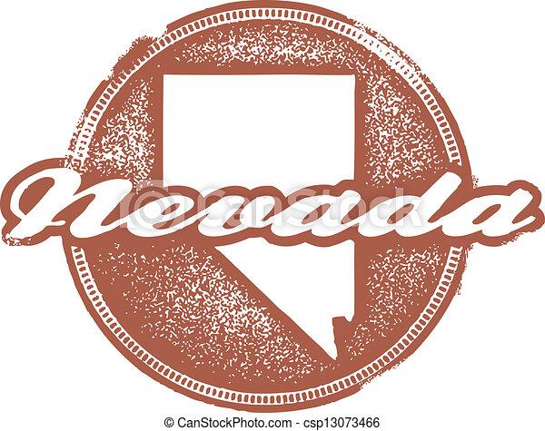 Nevada USA State Stamp - csp13073466