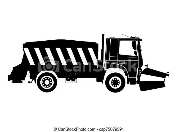 neve, plow. - csp75079391