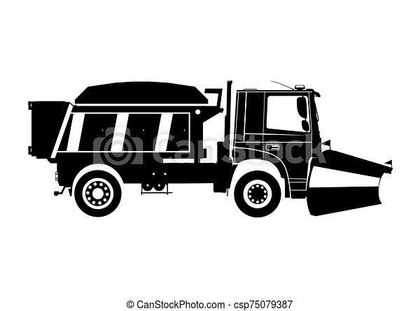 neve, plow. - csp75079387