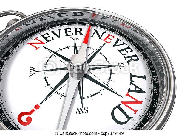neverland, image conceptuelle, compas - csp7379449