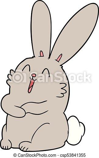 nevető, nyuszi nyúl, karikatúra - csp53841355