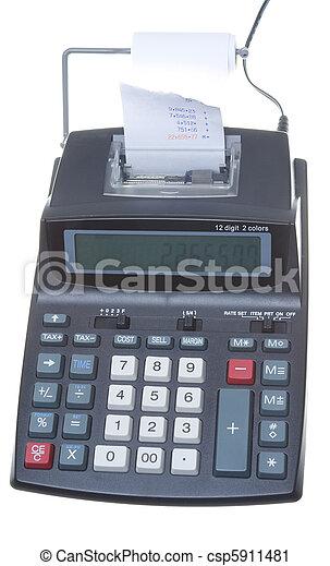 New Adding Machine, Tape Isolated LCD Display - csp5911481