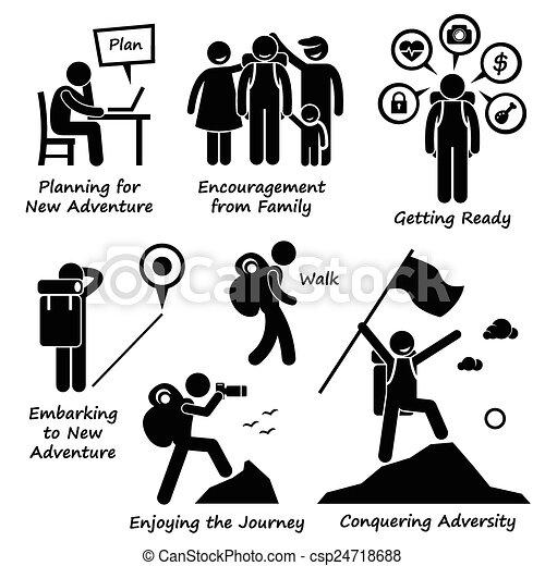 New Adventure Conquering Adversity - csp24718688