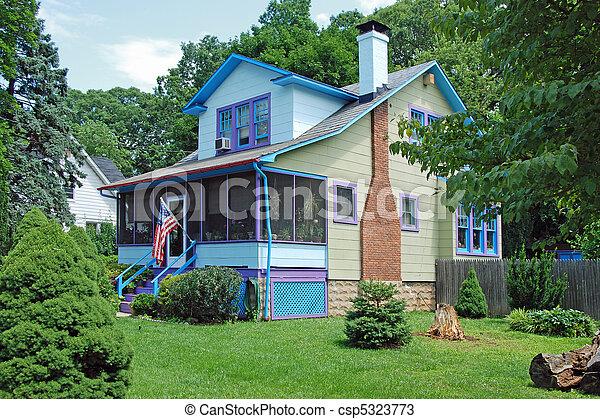 New American dream home - csp5323773