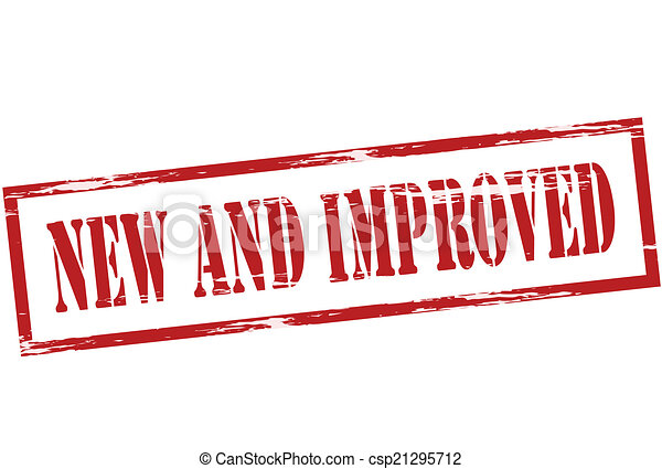 new and improved stamp with words new and improved inside vector