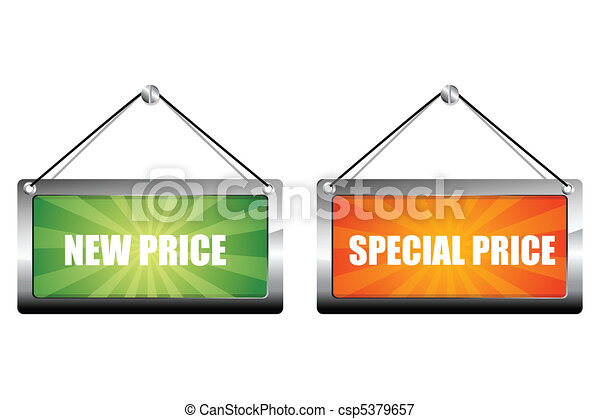 new and special price tags - csp5379657