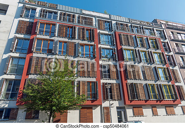 New apartment building in Germany - csp50484061