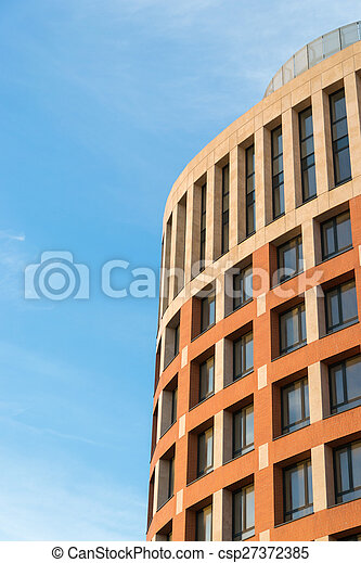 New apartment building on a sunny day - csp27372385