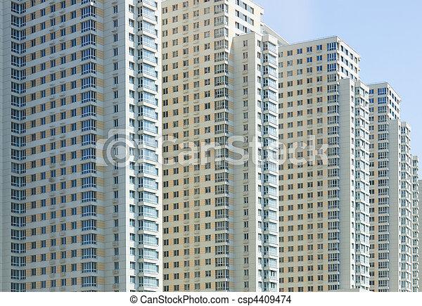 New apartment building - csp4409474