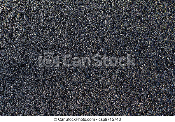 new asphalt laid on the road - csp9715748