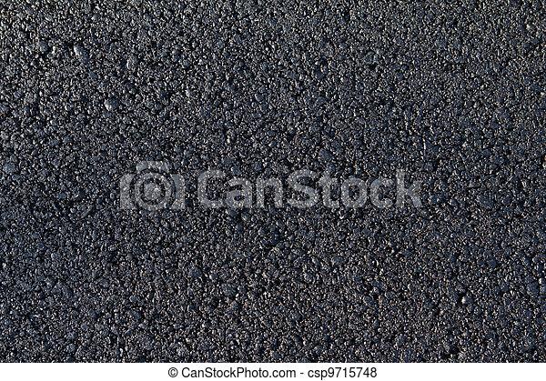 new asphalt laid on the road - csp9715748