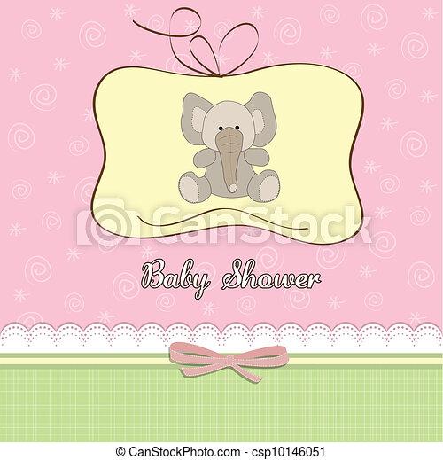 new baby girl shower card  - csp10146051