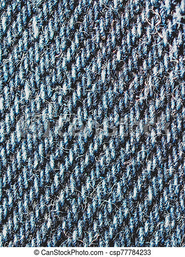New blue jeans close up - csp77784233