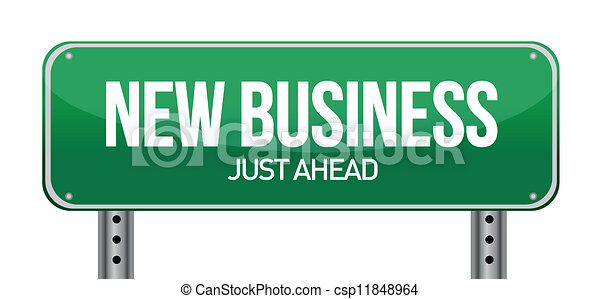 new business sign - csp11848964