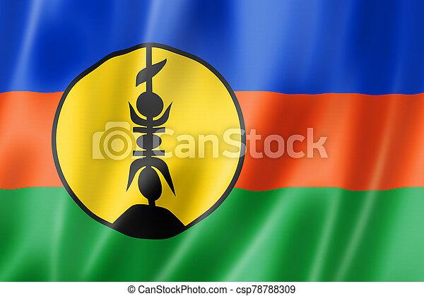 New Caledonia flag, Overseas Territories of France - csp78788309