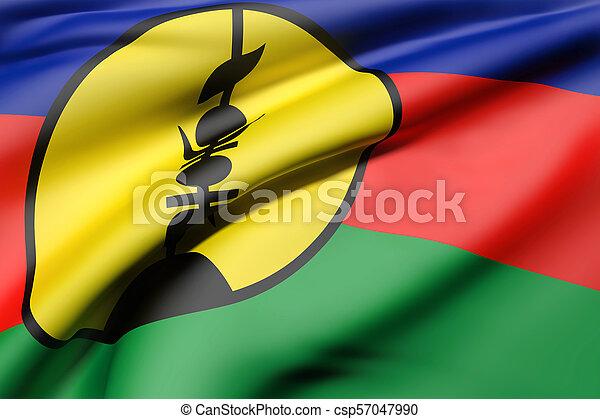 New Caledonia flag waving - csp57047990