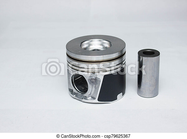 new car piston isolated on white background - csp79625367