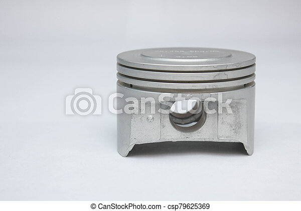new car piston isolated on white background - csp79625369