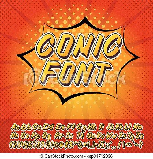 New comics style alphabet - csp31712036