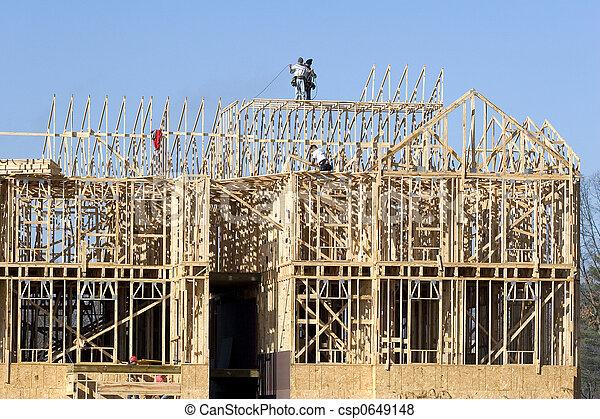 New Construction framing 2 - csp0649148