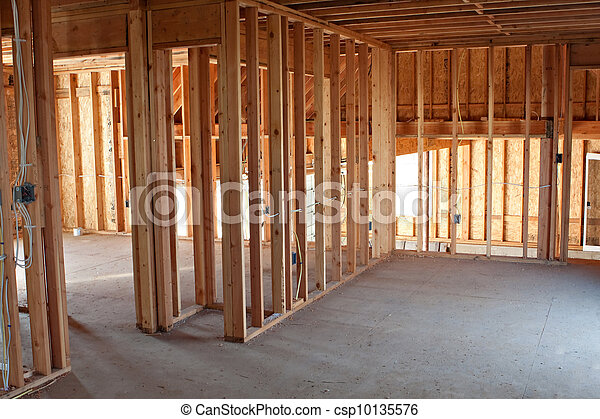 New Construction Framing Interior - csp10135576