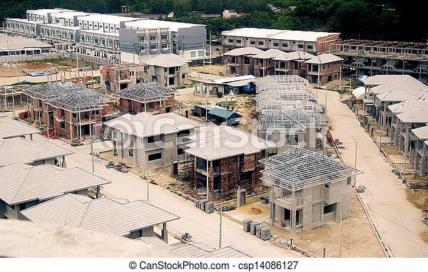 New construction house - csp14086127