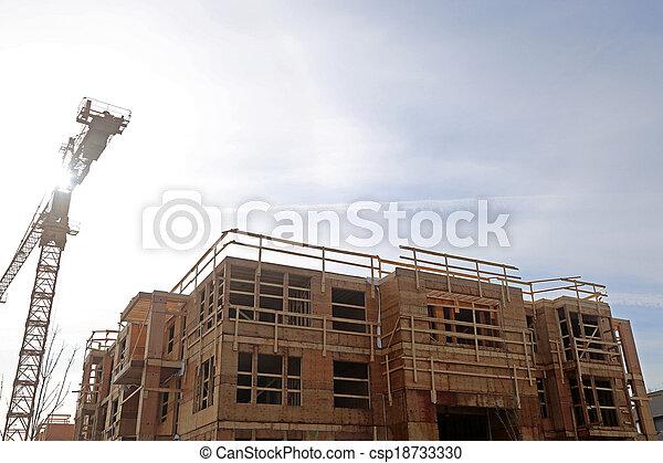 New construction site - csp18733330
