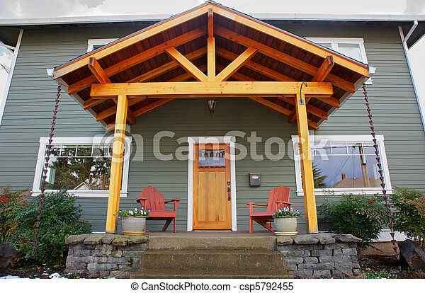 New craftsman Home front - csp5792455