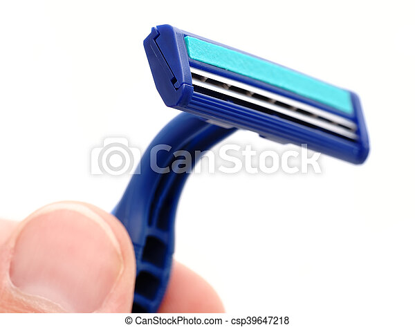 New disposable razor blade - csp39647218