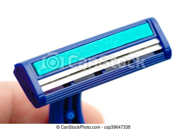 New disposable razor blade - csp39647338