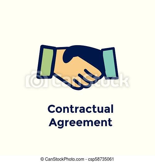 New Employee Hiring Process Icon With Handshake Contract Agreement