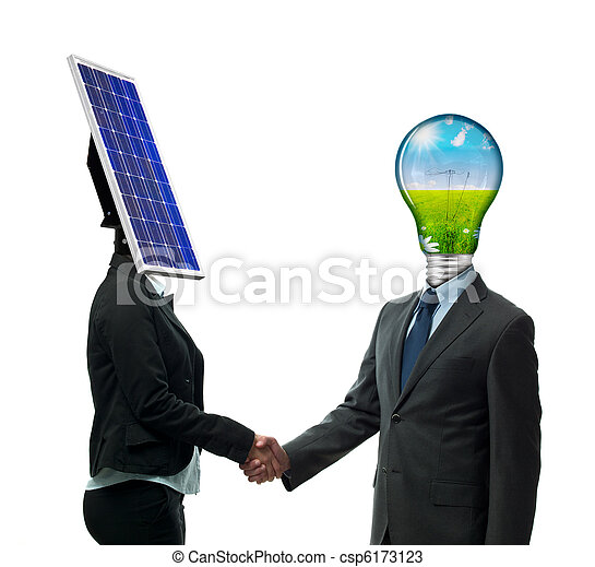 New Energy Agreement Business Handshake From New Energy People