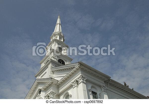 New England Church - csp0697892