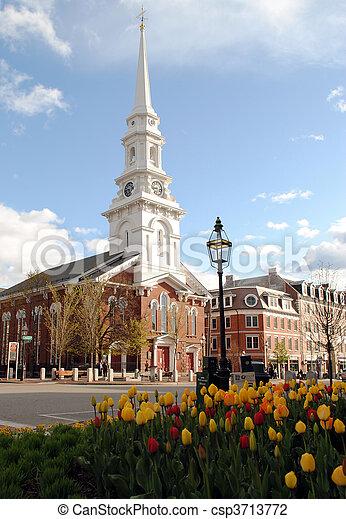 New England Church - csp3713772